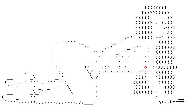 Ascii art sex cute girls. love