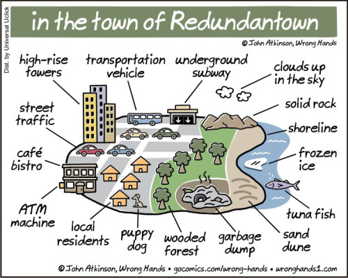 In the town of Redundantown